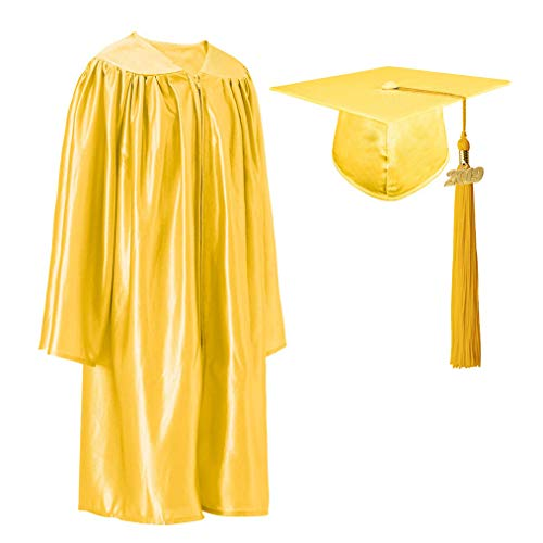 GraduationRoyal Shiny Kindergarten Gown Cap Tassel Set with 2019 Gold Year Charms ()