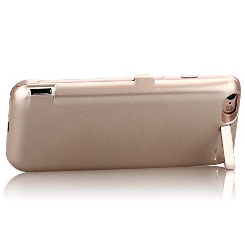Funda Batería iPhone 6 / iPhone 6s, LifeePro 10000mAh Batería recargable externa ultra delgada Protector portátil Carga caso de prueba de choque para iPhone 6 / iPhone 6s Negro Dorado