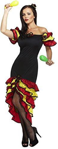 [Ladies Rumba Woman Spanish Dancer Senorita Flamenco Dance Fancy Dress Costume Outfit U37317 by Fancy Pants Party] (Female Flamenco Dancer Costumes)