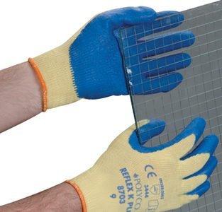 Polyco Reflex K Plus Handschuhe, mit Kevlar gefüttert, Latex-Handflächen, 10Paar