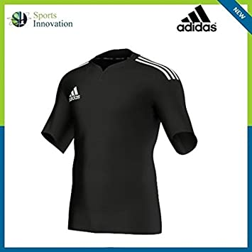 b87d99cba Adidas 3s Mens Training Pique Jersey Rugby Shirt - Black/White (Large - 40