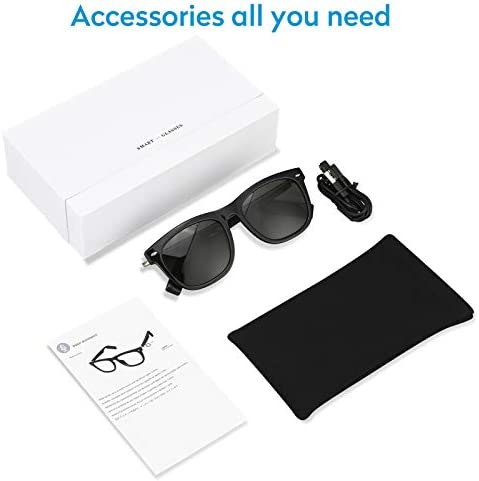 Scishion Bluetooth Sunglasses with Open Ear Headphones,Listen Music and Make Phone Calls,Water Resistance and Full UV Lens Protection for Outdoor Sports and Compatible for All Smart Phones