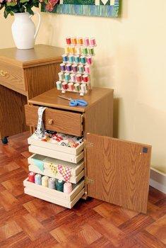 Arrow 800 Suzi Storage Sidekick in Oak by Arrow Sewing Cabinets