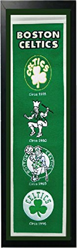 Encore Boston Celtics Logo History Felt Banner - 14 x 37 - Heritage Banner Boston Celtics