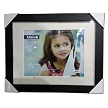 "Uniek Black 14"" x 18"" Picture Frame Matted"