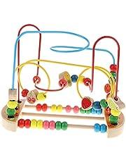 yotijay Bead Maze Roller Coaster Houten Educatieve Cirkel Speelgoed voor Peutervruchten