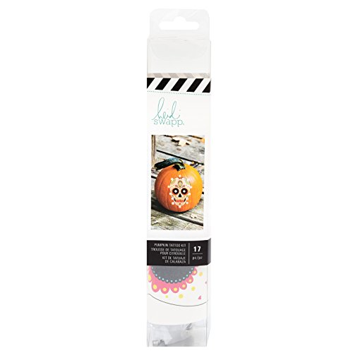 Heidi Swapp 314328 Pumpkin Tattoo Skull (16 Piece), Multicolor -