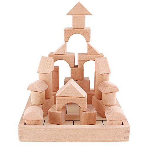 GYBBER&MUMU 32 Pieces Wooden Building Blocks Set