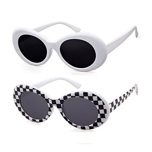 cuadr de sol gafas de Clout sol Adewu blancas Gafas ovaladas ABqFw7Z1x