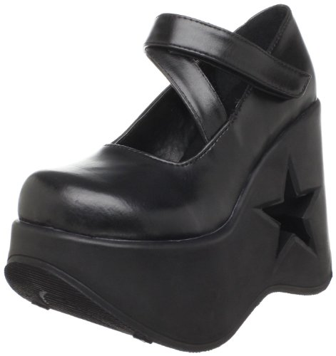 - Demonia By Pleaser Women's Dynamite-03 Mary Jane,Black Polyurethane,8 M US