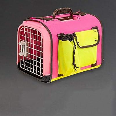 ZUOZUOZUO Caja De Aire para Gatos Gato Y Perro Jaula De Viaje Portátil Mascota Caja De Consignación De Aire Transporte para Perros Jaula De Auto Rosa 48X30X28 Cm: Amazon.es: Productos para mascotas