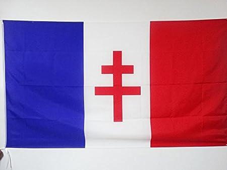 AZ FLAG Bandera de Francia Libre 1940-1944 150x90cm para Palo - Bandera Resistencia Francesa 90 x 150 cm: Amazon.es: Jardín