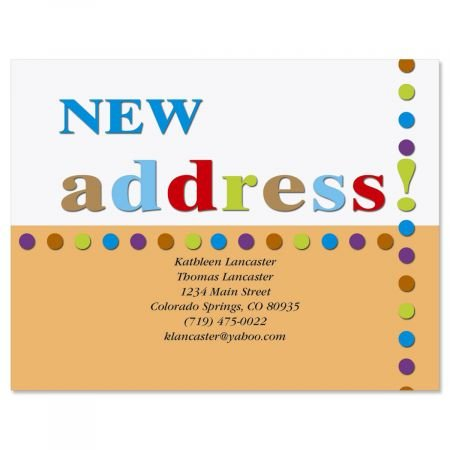 New Address Moving Announcements Postcards - Set of 24, Personalized with Address, 5-1/4'' x 4'', New Address Cards, Just Moved Cards, Moving Announcements