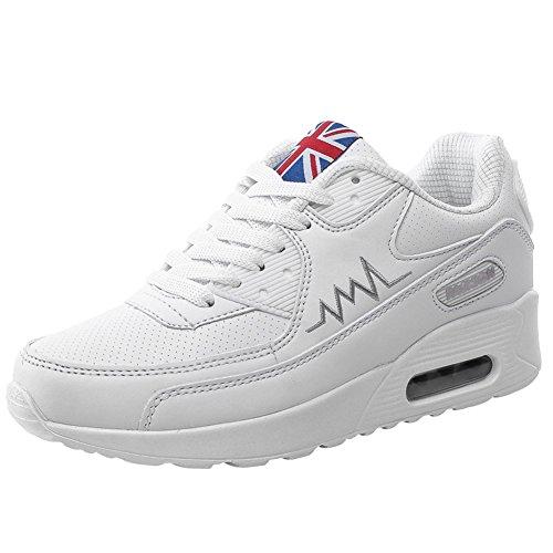 EU 39 Sportive Sneakers d'Aria 34 Donna Ginnastica Corsa da Bianco wealsex Casual Fitness Cuscino Running con Scarpe wOHZTTfx