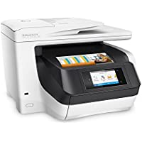 HP OfficeJet Pro 8730 All-in-One 4-Color Inkjet Printer with Duplex and Mobile Printing in White (Certified Refurbished)
