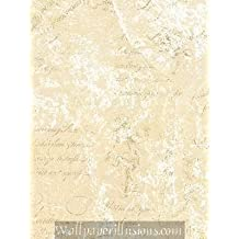 5812296 SAMPLE 8x10 INCHES Pearl and Cream Script Village Paper Illusions Wallpaper Torn Faux Finish Wallpaper Illusion PaperIllusion SAMPLE