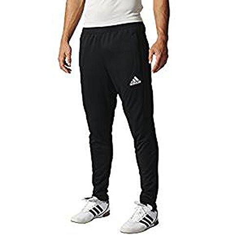 adidas Men's Soccer Tiro 17 Training Pants, Black/Black, Small