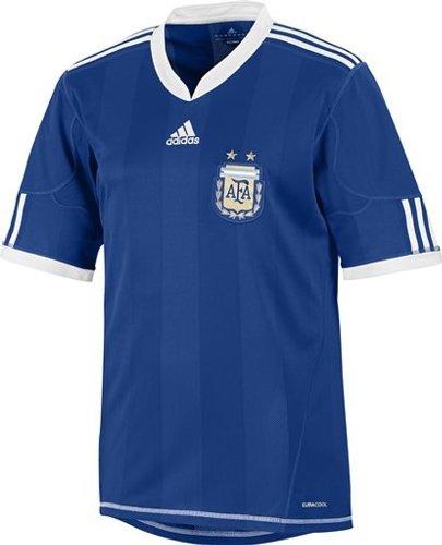 adidas - Camiseta de fútbol de la selección argentina AFA exterior manga corta Azul Rey, Hombre, azul cobalto, extra-large: Amazon.es: Deportes y aire libre