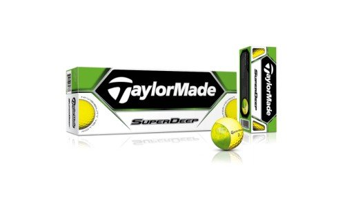TaylorMade SuperDeep Golf Ball (Pack of 12), Yellow