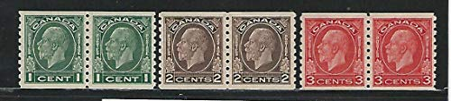 Canada, Postage Stamp, 205-207 Pairs Mint LH, 1933, JFZ