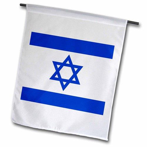 3dRose fl_151420_2 Israeli Flag Blue and White Magen Davi...
