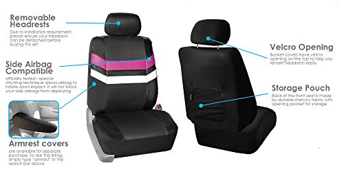FH Full Set Seat Covers Pink Airbag Split Ready