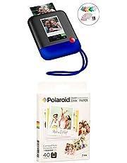 $189 » Polaroid Pop 2.0 2 in 1 Wireless Portable Instant 3x4 Photo Printer & Digital 20MP Camera(Blue) with 3.5 x 4.25 inch Premium Zink Border Print Photo Paper (40 Sheets)