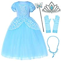 Party Chili Princess Costume for Girls Dress Up with Accessories 9-10 Years