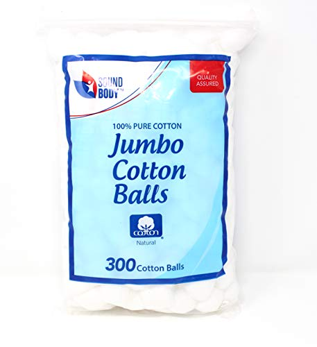 (Cotton Balls 300 ct. Jumbo Size 100% Pure Cotton)