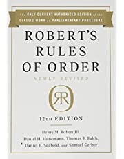 Robert's Rules of Order Newly Revised, 12th edition
