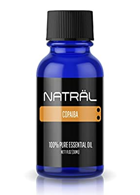 NATRÄL Copaiba, 100% Pure and Natural Essential Oil, Large 1 Ounce Bottle