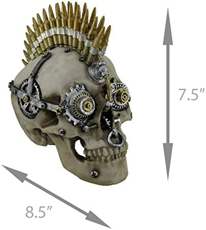Zeckos Steampunk Grinning Skull Top Hat Gear Goggles Figurine 7 H SY-32 Everspring Import Co SY-13