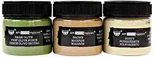 Prima Marketing Art Extravagance-Rust Paste-Camouflage Set of 3