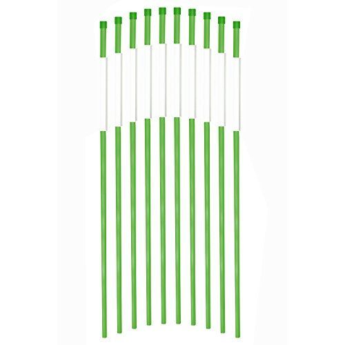 FiberMarker Reflective Driveway Markers 48-Inch Green 50-Pack 5/16-Inch Dia Solid Driveway Poles for Easy Visibility at Night
