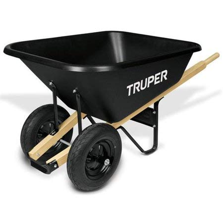 Truper 33611 / TP-8-8 ft3 Poly Tray Wheelbarrow, Block Tires by Truper (Image #1)