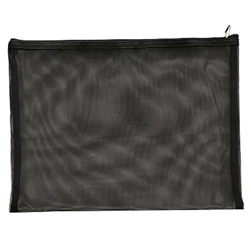 Cute File Bag Stationery Bag Pouch A4 File Envelope for Office/School Supplies, Black by Kylin Express (Image #2)
