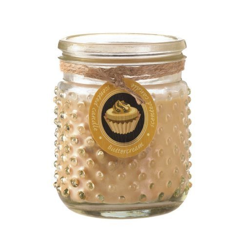 Zingz and Thingz Butter Cream Hobnail Jar Candle