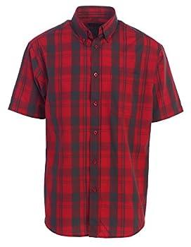 Gioberti Men's Plaid Short Sleeve Shirt, Redblack Checkered, Xx Large 0