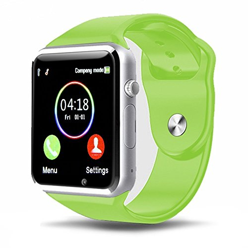 Padgene Bluetooth Smart Watch GSM Phone Watch with Camera for Samsung Nexus HTC Sony and Other Android Smartphones, (Green)