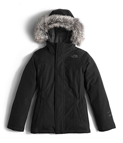The North Face Kids Girls' Greenland Down Parka (Little ), Tnf Black/Graphite Grey, SM (7-8 Big Kids) by The North Face