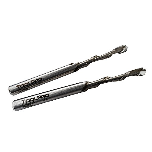 TOOLPRO 3/16 Spiral Downward Cutout Bit, 2 Pack