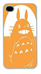 IPhone 4S Cases Totoro Illustration HAC1014480 Polycarbonate Hard Case Back Cover for iPhone 4/4S White