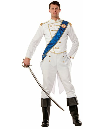 Forum Men's Happily Ever After Prince Costume, Multi/Color, One (Storybook Prince Adult Mens Costumes)