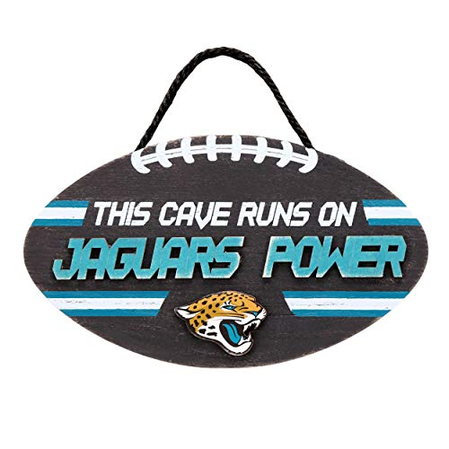 Forever Collectibles NFL Jacksonville Jaguars Football PowerWood, Team Colors, One Size