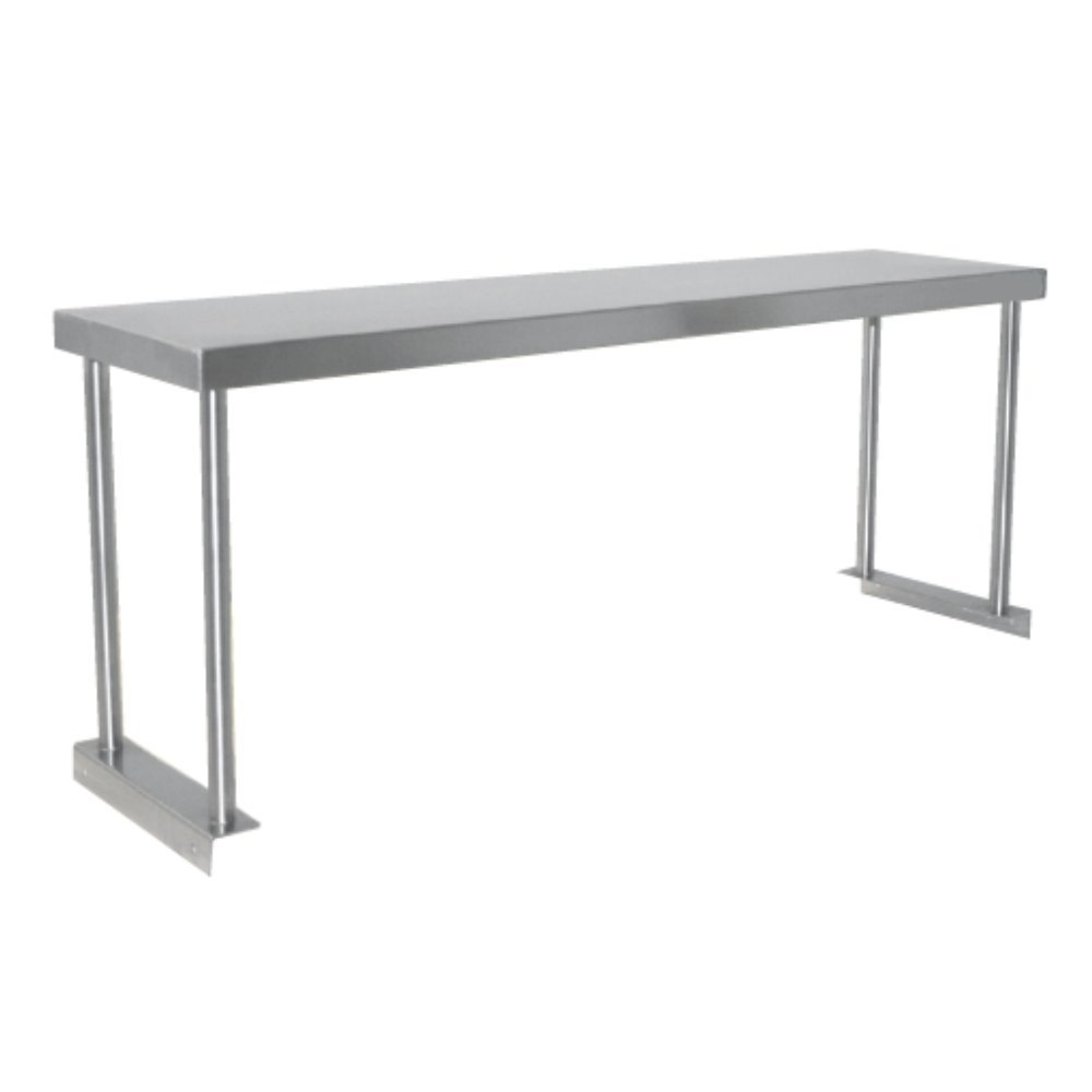 Fenix Sol Commercial Kitchen Stainless Steel Single Overshelf for Work Tables, 12'' W x 96''L x 19''H, NSF Certified