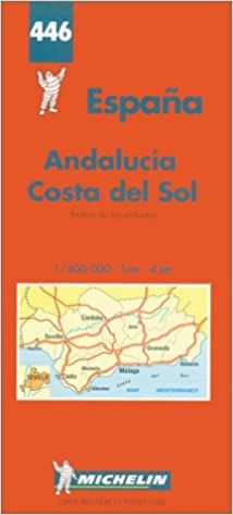 Detailed Map Of Southern Spain.Michelin Spain Southern Map No 446 Michelin Maps Atlases