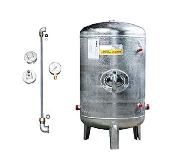 Top Druckbehälter 100 150 200 300 500 L 6 bar senkrecht mit Zubehör FN65