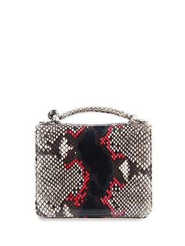 (Cashhimi Annapolis Genuine Python Top Handle and Shoulder Bag)