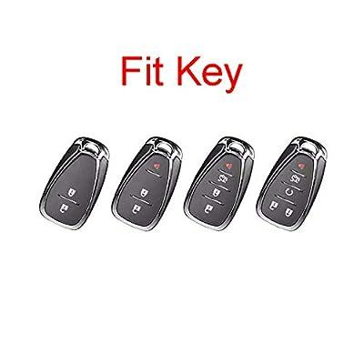 Royalfox(TM TPU Smart Remote Key 2 3 4 5 Buttons Case Cover Fob for 2016 2020 2020 Chevrolet Malibu Camaro Cruze Traverse Spark Sonic Volt Bolt (red): Automotive