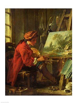 The Painter in his Studio HIGH QUALITY MUSEUM WRAP CANVAS Print Francois Boucher 18x24